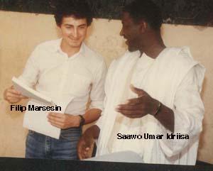 Filip Marsesin e Saawo Umar Idiriisa, hooreejo FƁPM, ñalnde kurmbitgol masiŋ kebbitinoowo oo