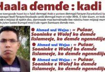 Ahmed wul Wejaa : pulaar, sooninke e wolof ko ɗemɗe lislameeje