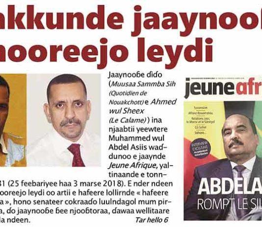 Jaaynooɓe (Muusaa Sammba e Ahmed Sheex) e hooreejo leydi Muritani hono Muhammed wul Abdel Asiis